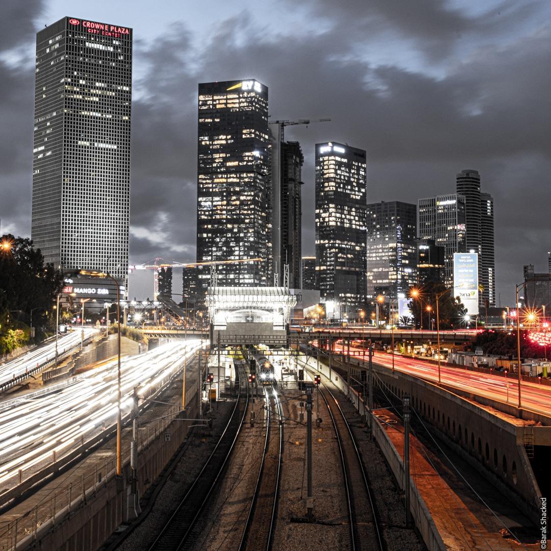 סדנת צילום בתל אביב - אורות בלילה