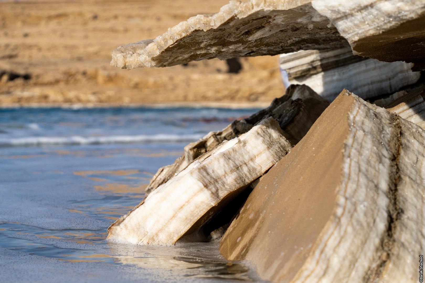 צילםו מדף מלח בים המלח